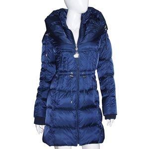 Betsey Johnson Coat NWT Small Navy Blue Drawstring
